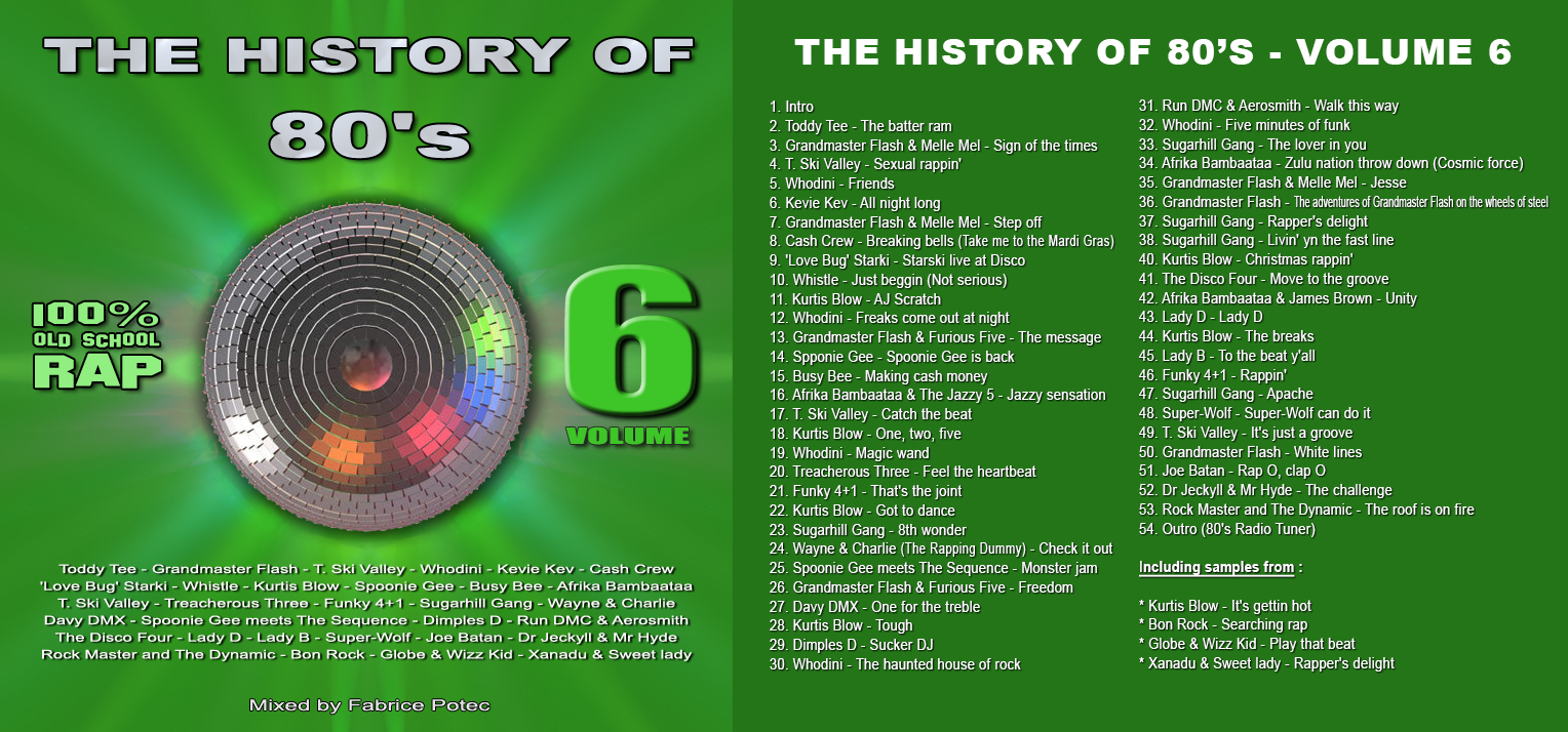 The History of 80's Volume 6 100% Old School Rap