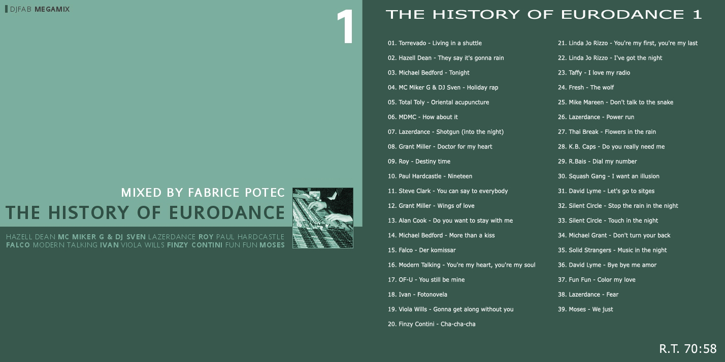 The History of Eurodance volume 1