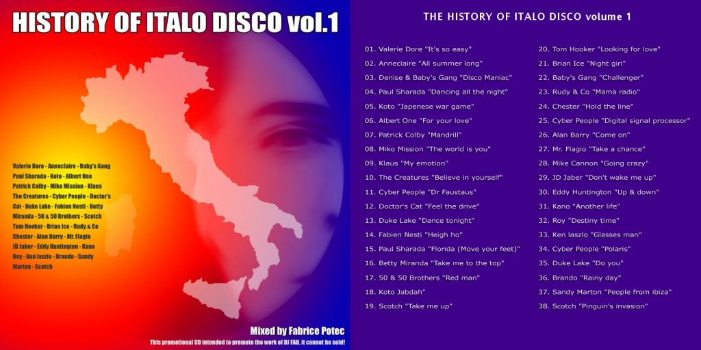 The History of Italo Disco volume 1